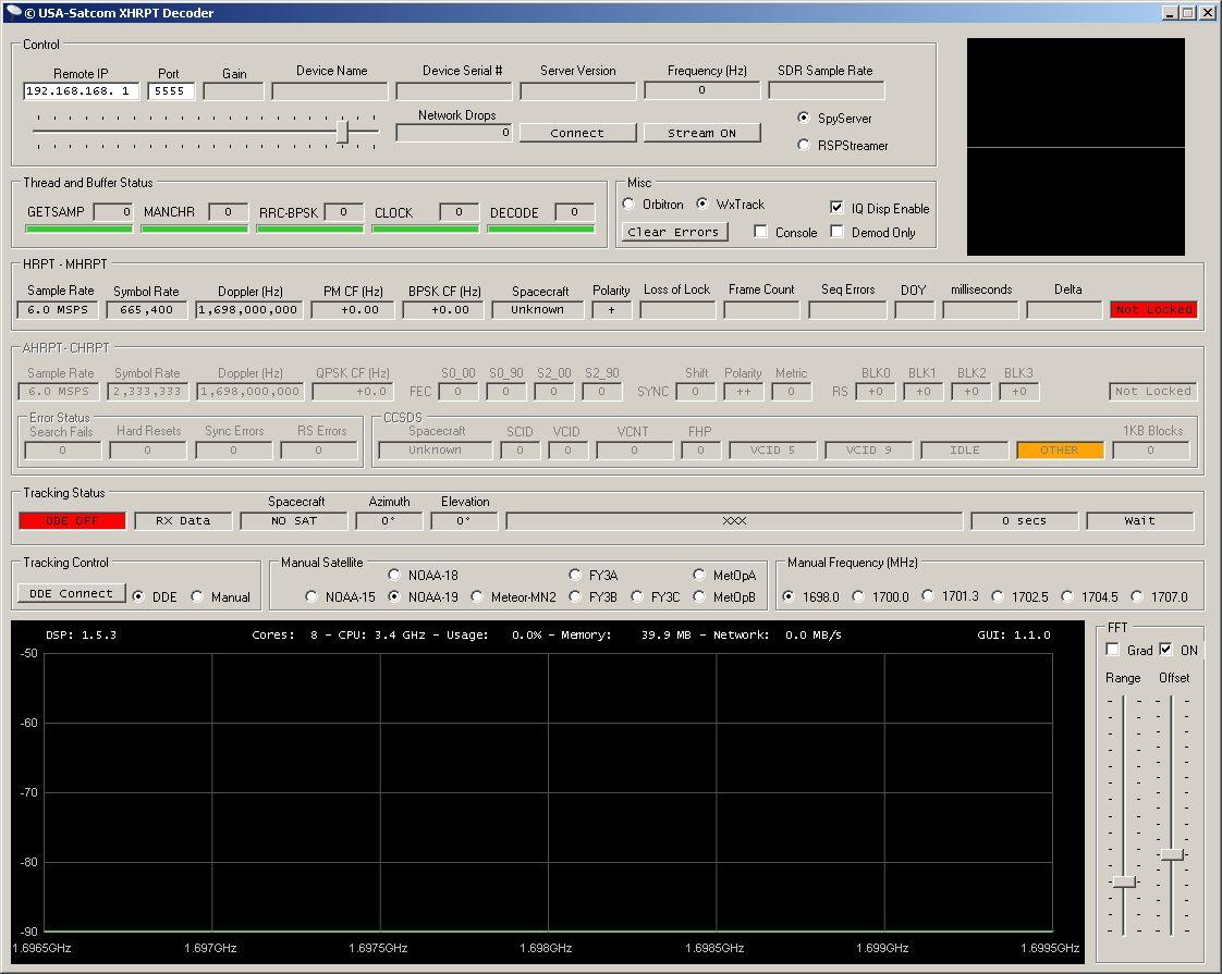 USA-Satcom xHRPT decoder setup | UHF-Satcom